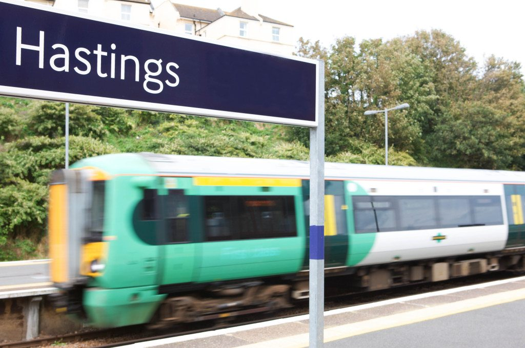 Hastings Station Sign & Train